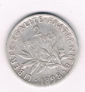 2 FRANCS 1898 FRANKRIJK /206B/