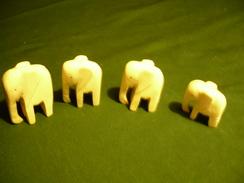 4 Elefanten Aus Bein (359) - Afrikanische Kunst