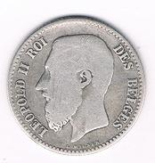 1 FRANC 1867 BELGIE /208B/