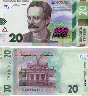 Ukraine - 20 Hryven 2016 UNC 160 Years Ivan Franko Commemorative Lemberg-Zp