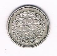 10 CENTS 1936 NEDERLAND /210B/