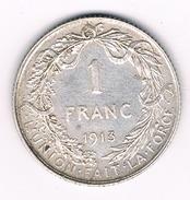 1 FRANC 1913 FR  BELGIE /213B/