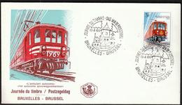 Belgium 1969 / Stamp's Day / Mail Train / FDC - Giornata Del Francobollo