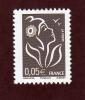 3754a   De  2005  -  Neuf **  -  Marianne De Lamouche (légende Phil@poste) . 0.05€ . Bistre-noir - 2004-08 Marianne De Lamouche