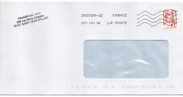 """Tp Adhésif De Carnet """"Marianne Ciappa Kavena- Lettre  Prioritaire"""" (sans Mention 20g)--Nouvelle Toshiba  379376A-02--per - Marcophilie (Lettres)"""