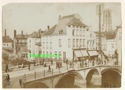 """MECHELEN MALINES Zeldzame Albumine Foto """" Grote Brug Op De Dijk """" Rond 1900-1910  Trenkler & Co - Lieux"""