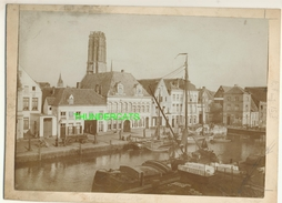 "MECHELEN MALINES Zeldzame Albumine Foto "" HAVEN "" Rond 1900-1910  Trenkler & Co - Lieux"