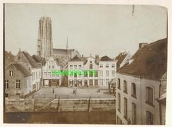 "MECHELEN MALINES Zeldzame Albumine Foto "" VISMARKT "" Rond 1900-1910  Trenkler & Co - Lieux"