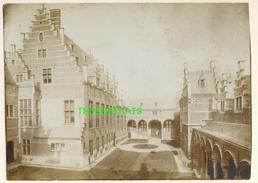 "MECHELEN MALINES Zeldzame Albumine Foto "" JUSTITIEPALEIS "" Rond 1900-1910  Trenkler & Co - Lieux"