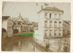 """MECHELEN MALINES Zeldzame Albumine Foto """" DRUKKERIJ VICTOR HEYMANS """" Rond 1900-1910  Trenkler & Co - Lieux"""
