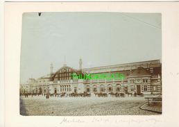 """MECHELEN MALINES Zeldzame Albumine Foto """" STATION """" Rond 1900-1910  Trenkler & Co - Lieux"""