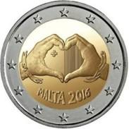 Malta  2016     2 Euro Commemo  Amour  !!! UNC Uit De Rol .. UNC Du Rouleaux !!