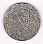 2 MARK 1958 F  DUITSLAND /221B/