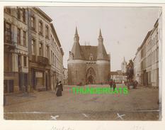 """MECHELEN MALINES Zeldzame Albumine Foto """" BRUSSELPOORT """" Rond 1900-1910  Trenkler & Co - Lieux"""