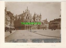 """MECHELEN MALINES Zeldzame Albumine Foto """" NIEUWE POST EN HALLEN """" Rond 1900-1910  Trenkler & Co - Lieux"""