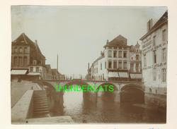 "MECHELEN MALINES Zeldzame Albumine Foto "" BRUG "" Rond 1900-1910  Trenkler & Co - Lieux"