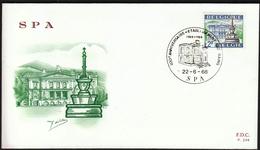 Belgium 1968 / Tourist Publicity / Bath-house & Fountain / Spa / FDC - Vacaciones & Turismo