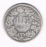 1 FRANC 1877 ZWITSERLAND /230B/