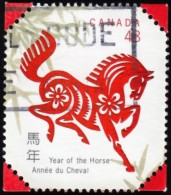 Canada - Scott #1933 Year Of The Horse 2002 (*) / Used Stamp - Astrology