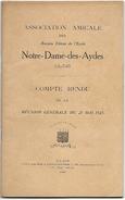 D 170 Recueil De L'Association Amicale Des Anciens Elèves De L'Ecole Notre Dame Des Aydes à Blois En 1925 - Autres Collections