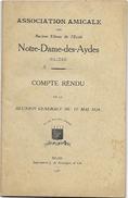 D 171 Recueil De L'Association Amicale Des Anciens Elèves De L'Ecole Notre Dame Des Aydes à Blois En 1926 - Autres Collections