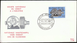 Belgium 1969 / National Industry Credit Society / FDC - Fabbriche E Imprese
