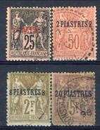 Levante 1886 - 1901 Serie N. 4-5, 7-8 Usati Catalogo € 124