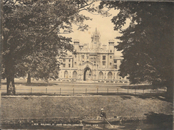 Photo Sépia De Cambridge (15 X 20 Cm) - New Building, St Johns Collège - G.W.W. N° 3425 - Places