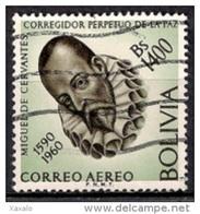 A943 - Bolivia 1960 - Miguel De Cervantes Commemoration Used - Bolivia