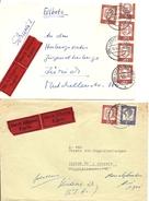 Deutschland, 1962 1963, 2 Express Briefe, Nürnberg, Lindau Nach Schweiz, Siehe Scans! - Covers & Documents