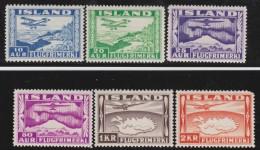 Iceland   .     Yvert     Lucht  15/20        .     *   .        Ongebruikt    .    /   .  Mint-hinged - Airmail