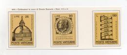Vaticano - 1972 - Celebrazioni In Onore Di Donato Bramante - Serie Completa 3 Valori - Nuovi - (FDC1989) - Unused Stamps