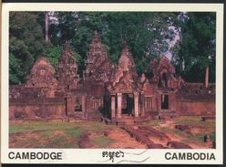 °°° 58 - CAMBOGIA - WHOLE VIEW OF BANTEAY SREI - 1999 With Stamps °°° - Cambogia