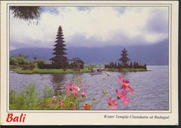°°° 61 - INDONESIA - BALI - WATER TEMPLE ULUNDANU AT BEDUGUL - 1998 With Stamps °°° - Indonesia