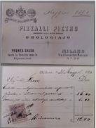 RICEVUTA OROLOGIAIO PIZZALLI PIETRO 1890 CON MARCA DA BOLLO (149L - Italia