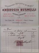 RICEVUTA MOBILI AMBROGIO BUSNELLI 1896 CON MARCA DA BOLLO (PIEGA CENTRALE) (150L - Italia