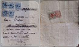 RICEVUTA 1926 CON MARCHE DA BOLLO SUL FRONTE E RETRO (STRAPPO A SX) (160L - Italia
