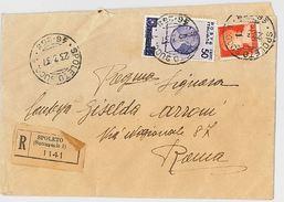 RACCOMANDATA 1937 CON 1,75+50 CENT ORAZIO (165L - 1900-44 Victor Emmanuel III.