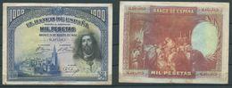 ESPAGNE SPANIEN SPAIN 1000 PTA 15 AGOSTO 1928 SAN FERNANDO - [ 1] …-1931 : First Banknotes (Banco De España)