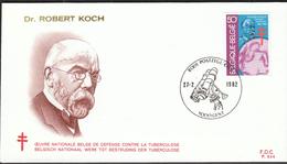 Belgium 1982 / Dr Robert Koch / Tuberculose / FDC - Disease