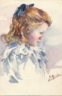 Illustrateur - Signée Maride - Aquarelle - Jeune Fille - Watercolours