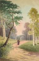 Illustrateur - G. Redourtier - Aquarelle - Paysage De Sous-bois - Watercolours