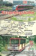 RAIL RAILROAD TRAIN RAILCAR CABLE RAILWAY FUNICULAR DEUTSCHE BAHN VMS CHEMNITZ MAP CALENDAR Erzgebirgsbahn 2009 Germany - Calendarios