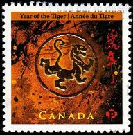 Canada - Scott #2348 Year Of The Tiger, 2010 (*) / Used Stamp - Astrology