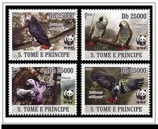 (WWF-431) W.W.F. Sao Tome & Principe Grey Parrot MNH Stamps 2009 - W.W.F.