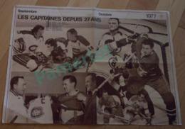 Poster47 X 35 Cm - Les Capitaines Depuis 27 Ans Verso: Les Canadiens Champions De La Coupe Stanley 1976 Hockey - Sports D'hiver