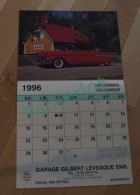 Calendrier Autos Old Car 1996 - Garage G. Levesque Shawinigan - 3 Scans - Calendriers