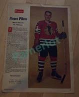 Poster De Journaux , Perspectives 1961, Pierre Pilote Black Hawks De Chicago, 38 X 27 Cm, Sport Hockey - Hockey - NHL