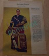 Poster De Journaux , Perspectives 1963, Jacques Plante Rangers De New York, 38 X 27 Cm, Sport Hockey - Hockey - NHL