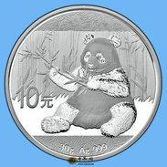 China 2017 Panda Commemorative Silver Coin 30g 10 Yuan Genuine UNC - Chine